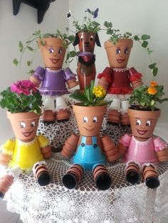 Flower pot friends