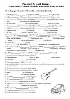 English Past Tense, English Grammar Tenses, English Grammar Worksheets, English Verbs, Grammar Lessons, English Grammar For Kids, English Lessons For Kids, Present Past Tense, Past Tense Worksheet