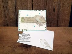 Stampin Up Best Birds Bundle Birthday  Card