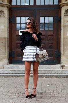 shorts: Edited // off-shoulder blouse: MLM Label // sandals: Topshop // bag: Gucci Dionysus // sunglasses: Prada //…