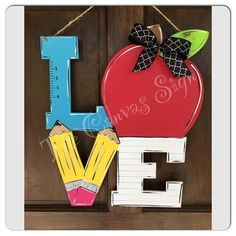 Teacher Name Sign  Back to School  LOVE sign  Classroom