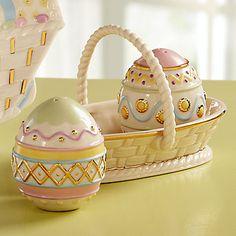 Easter Egg Salt & Pepper Shaker Set by Lenox