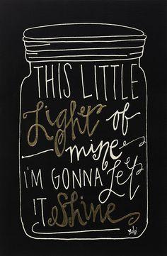 'Little Light of Mine' Wall Sign
