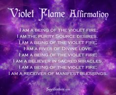 Using the Violet Flame in Meditation and Ritual for Healing - Sage ...