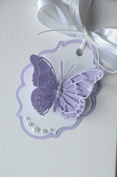 Diy And Crafts, Paper Crafts, Birthday Tags, Handmade Gift Tags, Candy Cards, Marianne Design, Scrapbook Embellishments, Butterfly Cards, Card Tags