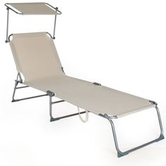 TecTake Beautiful Outdoor Folding Garden Sun Lounger with Sunshade Recliner Chair beige TecTake http://www.amazon.co.uk/dp/B008L0OFNY/ref=cm_sw_r_pi_dp_RV9Nvb066Y638