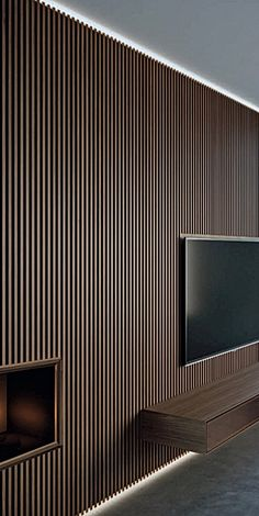 Residential interiors tips for home design 1 Timber Wall Panels, Wood Slat Wall, Timber Walls, Wood Slats, Wood Paneling, Panelling, Wall Panel Design, Tv Wall Design, House Design