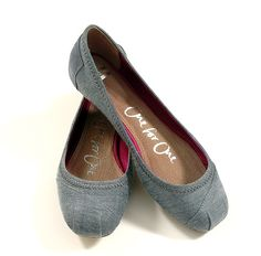 Katia Chambray Ballet flats by TOMS shoes.