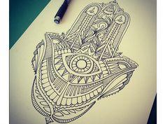 Possible tattoo inspiration. Hamsa.