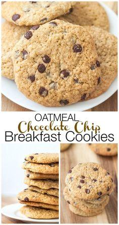 Healthy Oatmeal Chocolate Chip Breakfast Cookies