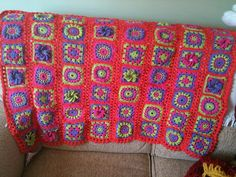 Ravelry: Granny Square Crocheted Afghan pattern by Kathy Wilson