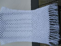 White baby blanket hand crochet available at www.woollygoods.com