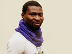 Purple men Cowl   Knitted   Dad gift  Block by theYarnKitchen, $60.00