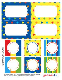50 Summer free printables for parties, activities, subway arts & more for families and kids. Party ideas and game fun for summer with home decorative ideas Circus Carnival Party, Carnival Birthday Parties, Carnival Themes, Circus Birthday, Circus Food, Carnival Wedding, Printable Labels, Party Printables, Free Printables