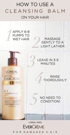 How to use a cleansing balm to fix dry hair. The 6 in 1 low-lather conditioning cleanser cleans, detangles, conditions, treats, softens and adds shine.