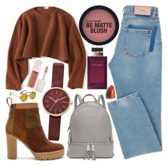 Untitled #772 by natallie on Polyvore featuring polyvore, мода, style, Uniqlo, See by Chloé, Michael Kors, Skagen, Spitfire, Shiseido, Dolce&Gabbana, Puma, fashion and clothing Matte Blush, Skagen, Shiseido, Denim Skinny Jeans, Uniqlo, Polyvore Fashion, Fashion Looks, Michael Kors, Heels