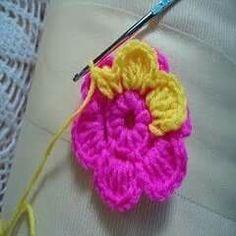 Cara kait bunga basic untuk beginner harap dapat membantu step sofa layers flowers ccuart Gallery