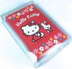 VTG SANRIO (HELLO KITTY) ❤︎ RED BUNNY PLAYING CARDS (NEW) ❤︎ MIP RARE KAWAII '00