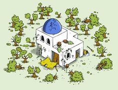 #ruin of the #olive grove from the game #travians at www.travians.com