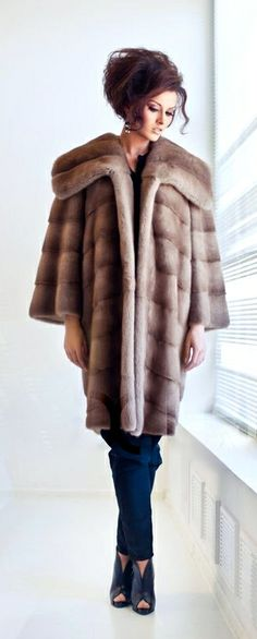 Pastel Mink Fur Coat