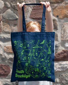 South Brooklyn Custom Maptote for By Brooklyn!