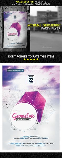 Futuristic Flyer Templates  Flyer Template Party Poster And