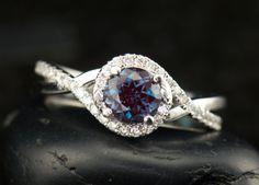 Kara Beth Alexandrite Diamond and White by DiamondDoveJewelry, $1180.00