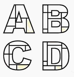 Afbeeldingen, stockfoto's en vectoren van Mondrian+alphabet Piet Mondrian, Alphabet Images, Alphabet Art, Alphabet And Numbers, Kids Art Class, Art For Kids, Art Worksheets, Ecole Art, Art Activities