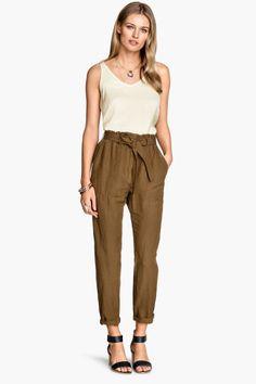 Pantalón en mezcla de lino | H&M