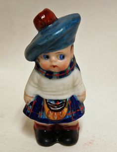 """Condition: topper is missing. Perfume bottle has no chips/cracks or repairs, minor paint wear due to age and use - see all photos for condition. There is a book by, Pauline Turco, """"The Crown Top Book-German Porcelain Perfume Bottles 1920-1939"""".   eBay!"""