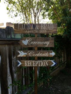 Wedding Directional Sign Yard By Onecooped