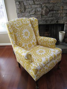 Just ordered this fabric to recover a few chairs. Then saw this and it made me excited!