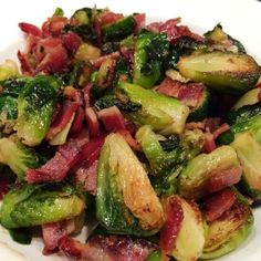 Brussel sprouts with bacon and maple syrup