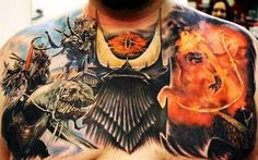 EPIC Lord of the Rings tattoo...for a dedicated fan. not my taste. but epic.