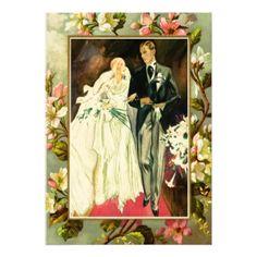 #invitations #wedding #bridalshower - #Vintage wedding couple card