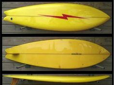 One Lightning Bolt single fin swallow tail.  I used to know someone who had one of these.