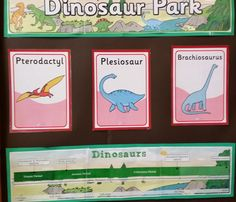 Dinosaur Park signs - unfortunately, as most young children know, Pterosaurs and Plesiosaurs were not dinosaurs.