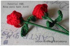 Urban Knitting Barcelona: TUTORIAL ROSA DE SANT JORDI