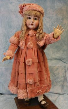 """32"""" Kestner 146 Antique bisque doll original Ball Jointed body marked from turnofthecenturyantiques on Ruby Lane"""