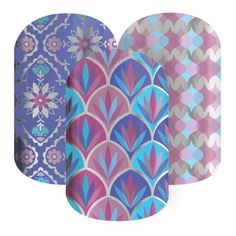 Royal Bliss | Jamberry | Noble and magnificent, 'Royal Bliss' has three shimmering designs for a complete look.