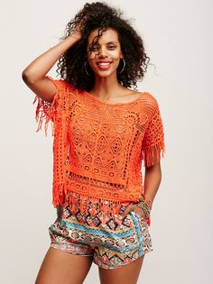 Georgia Crochet Poncho from Free People!