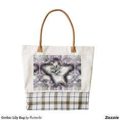 Gothic Lily Zazzle charity Bag