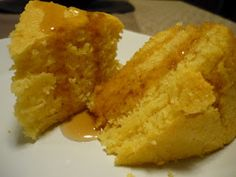 Quick and easy cornbread.  And dairy free too!  Great for breakfast or dessert.