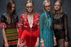 Models at the Gucci spring/summer 2016 show during Milan Fashion Week. (Photo: Alfredo Piola)