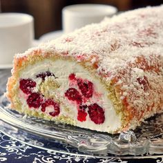 Billot Log Cake a.k.a. Raspberry Buttercream Log - inspired by the popular Canadian snack cake, this pretty roll cake is sure to be a hit at any celebration, including Canada Day!