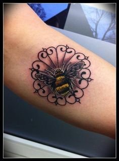 Bumblebee tattoo Artist: :Lene Dittberner Done@ Tattoo Freestyle Hamburg   https://www.facebook.com/Lene.Tattooartist