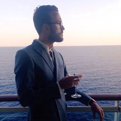 Sharing a personal style pin featuring my #CombatGent Double-Breasted Suit on a cruise to Greece -- more at The Style Guide! #menswear