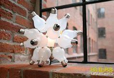 Luminos Word uma ideia inteligente: Reciclagem e reutilização de lâmpadas na decoração. Reciclagem e reutilização de lâmpadas na decoração