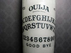 Candle  Ouija  Prayer Candle  White by BurkeHareCo on Etsy, $10.00