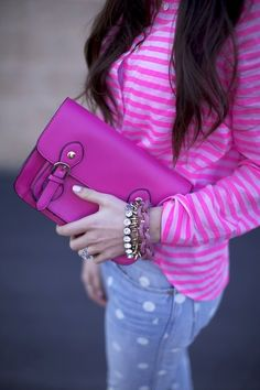 Tumblr : pink leather bag.